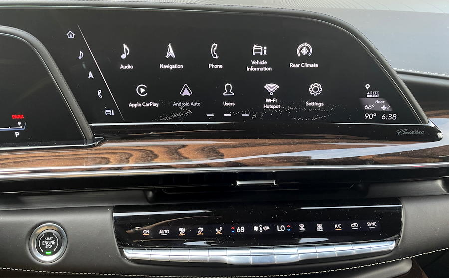 2021 cadillac escalade 4wd sport platinum - right display and climate controls