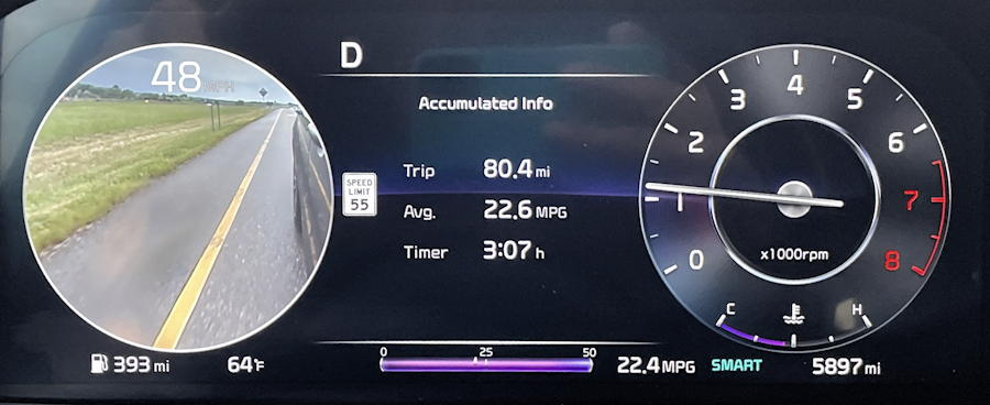 2021 kia sorento x-line awd - turn indicator video stream on dash