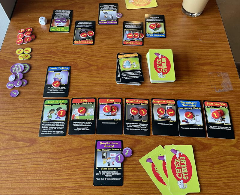 chez cthulhu card game - full game on table two players