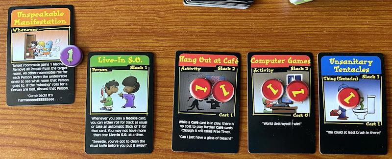 chez cthulhu card game - unspeakable manifestation