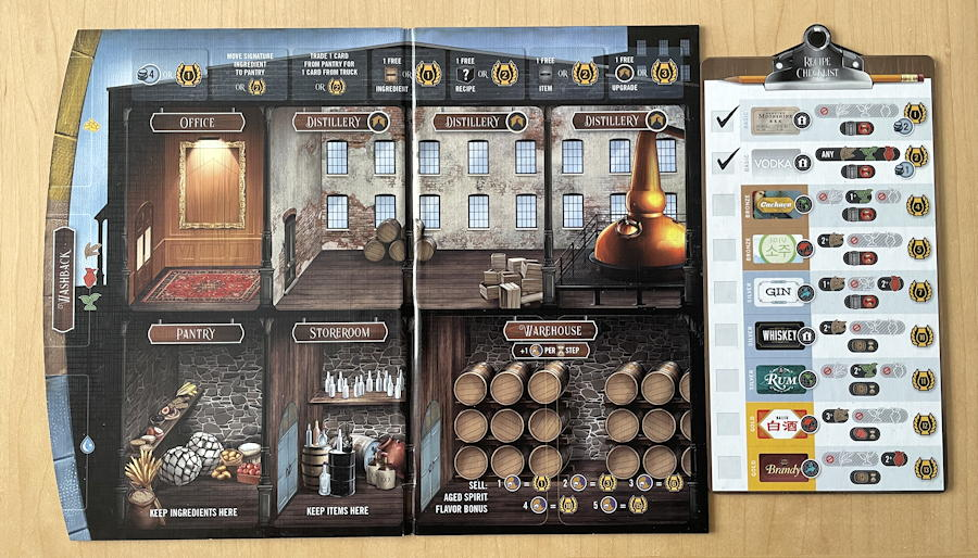 distilled board game review - individual distillery