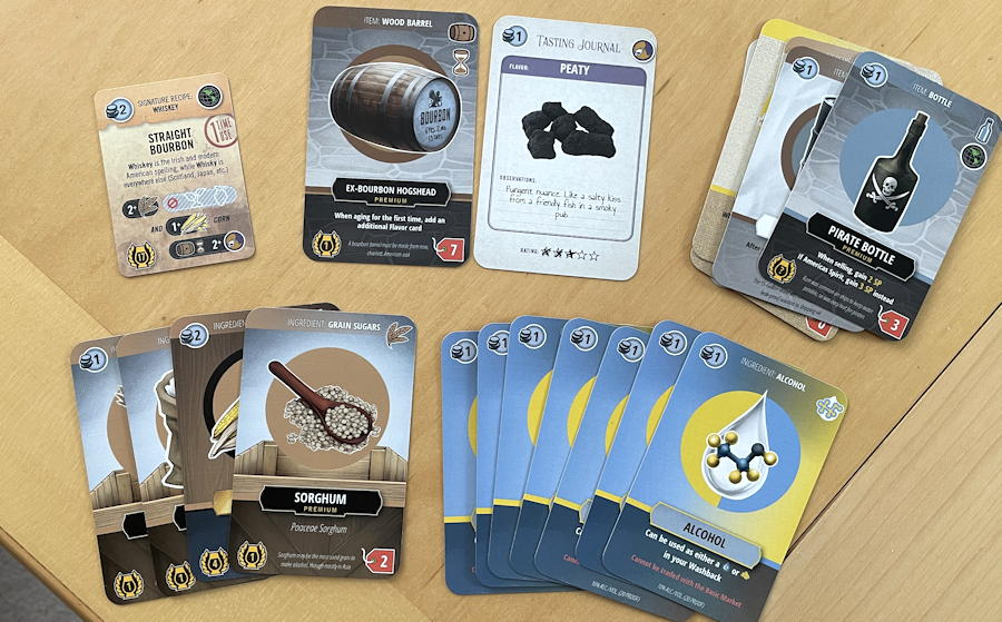 distilled board game review - bourbon