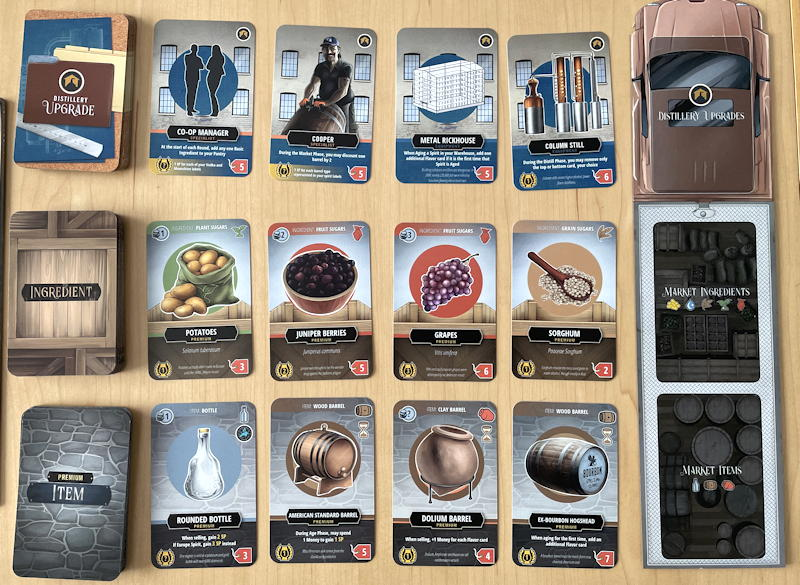 distilled board game review - marketplace
