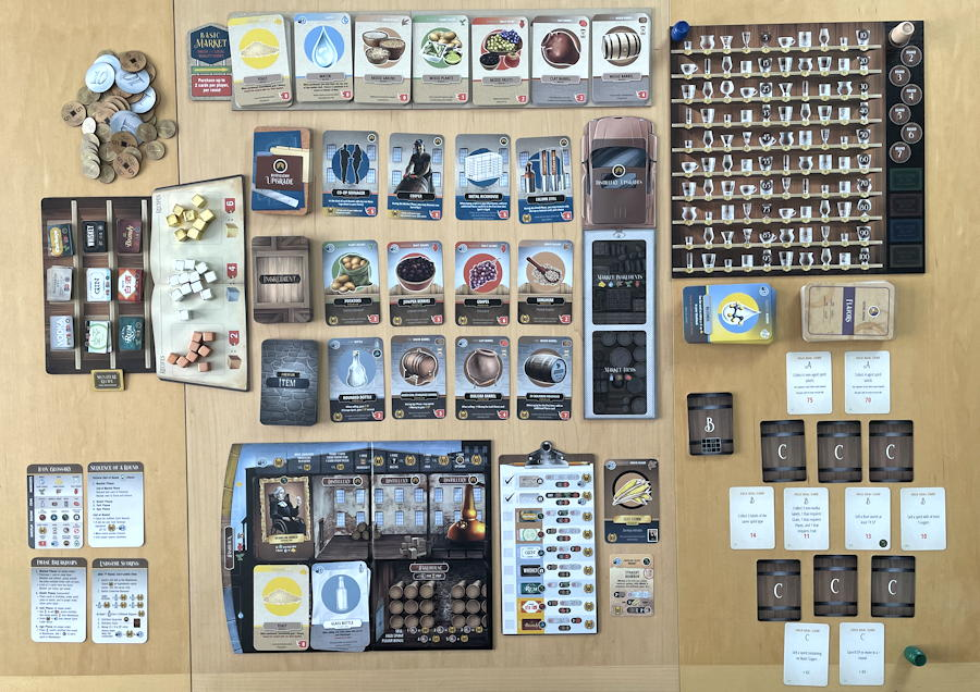 distilled board game review - starting overview