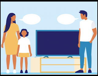 does watching tv together really foster family conversations?