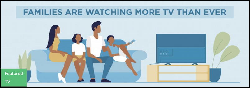 family watching tv together grahpic
