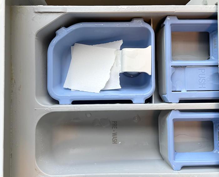 lg front loader washing machine detergent tray - tru earth strip