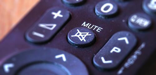tv remote mute button