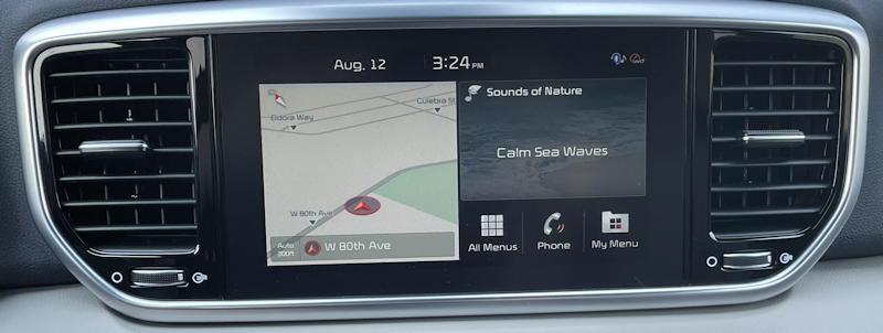 2020 Kia Sportage SX AWD - infotainment screen map