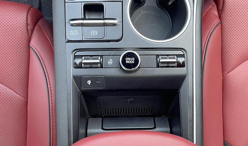2021 kia k5 gt-line awd - center console