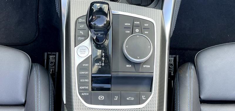 2021 bmw 430i convertible - center console