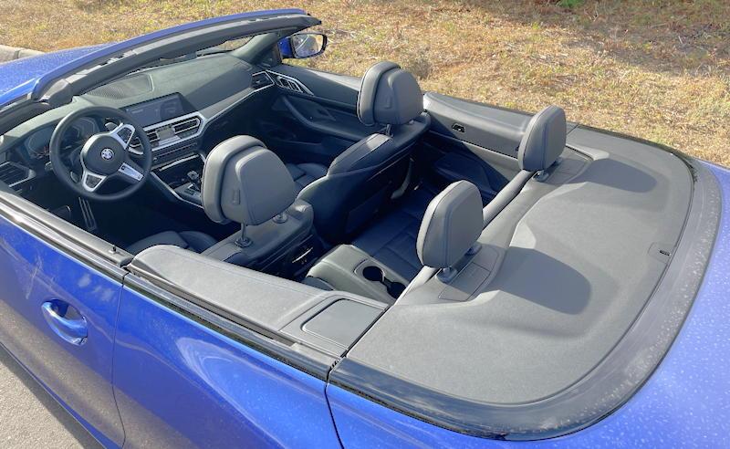 2021 bmw 430i convertible - no rear legroom