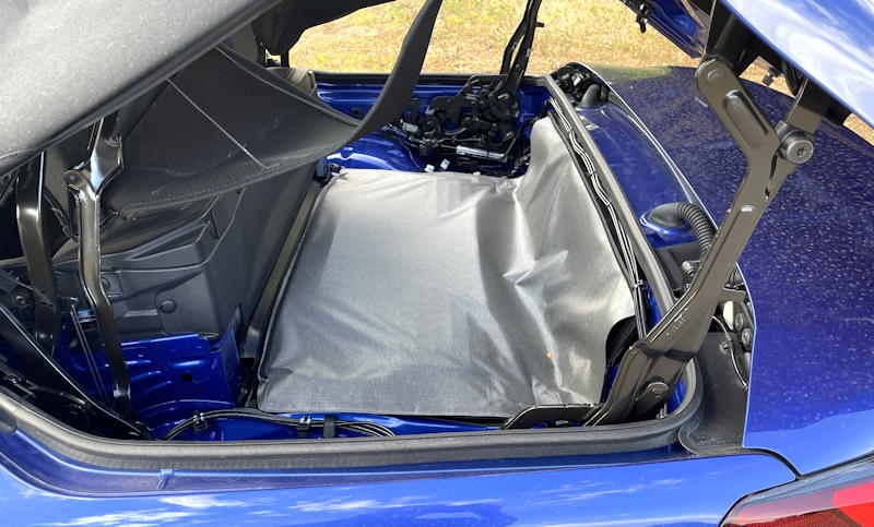 2021 bmw 430i convertible - top storage area compartment