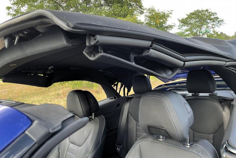 2021 bmw 430i convertible - top partially open