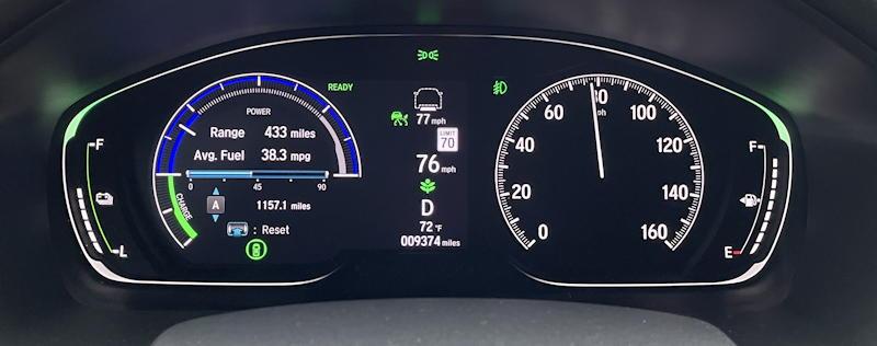 2021 honda accord hybrid trg - main gauge