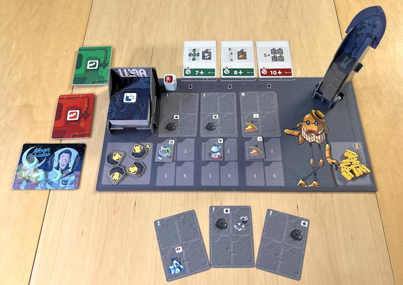 luna capital game - starting board setup