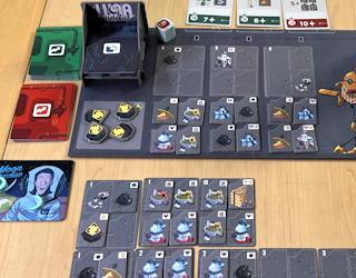 luna capital board game review - solo mode automaton