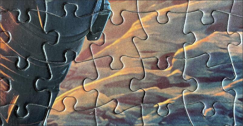mandalorian jigsaw puzzle - buffalo games & puzzles - close up