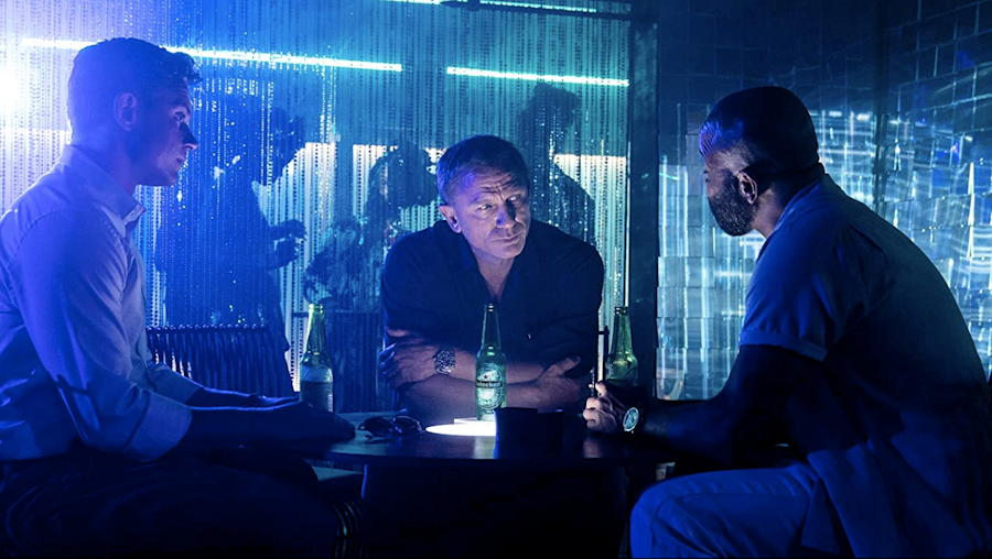 """Logan (), Bond (Craig) and Leiter (xx), from """"No Time To Die"""""""