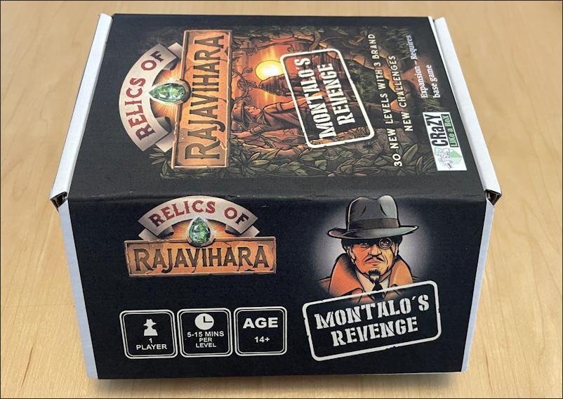 relics rajavihara - montalo's revenge - puzzle game - the box