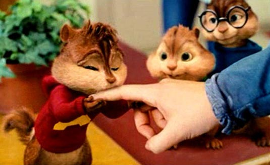 alvin and the chipmunks squeakquel publicity still