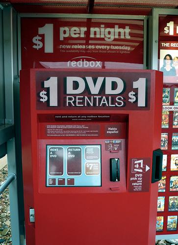 redbox kiosk front view