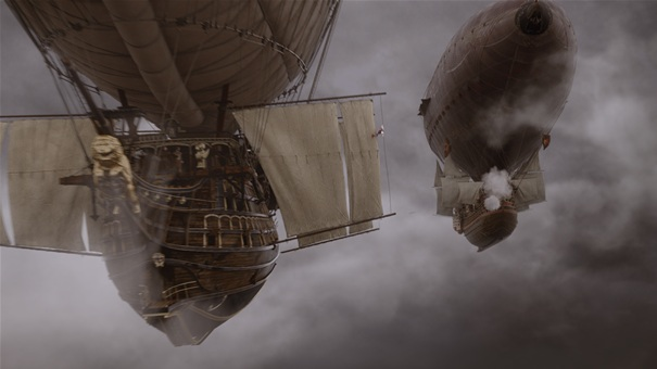 the three musketeers airships publicity still